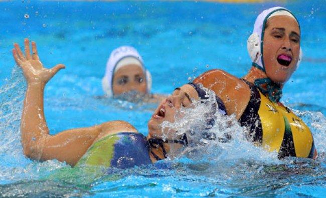 Women\'s Classification 5th-8th Place Australia v Brazil - Olympic Aquatics Stadium - Rio de Janeiro.