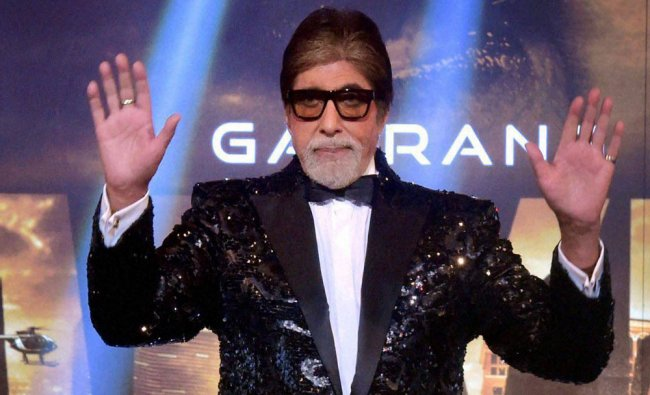 Amitabh Bachchan at the announcement of Bollywood movie Aankhen-2, in Mumbai on Wednesday night...