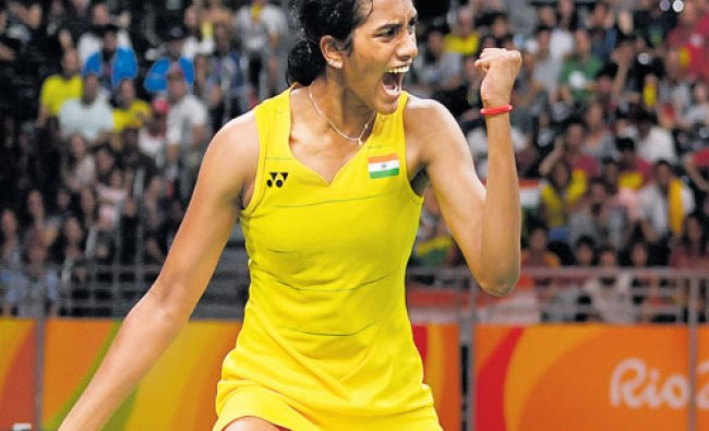 Indias P V Sindhu produced a valiant effort in the final before bowing to the...