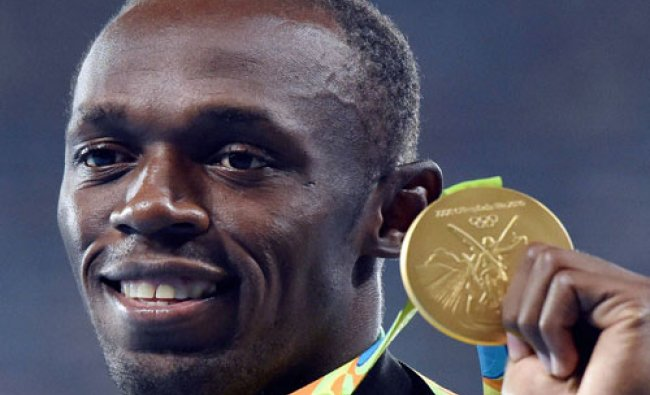 Jamaica\'s Usain Bolt after receiving the gold in men\'s 200-meter at the 2016 Summer Olympics at ...