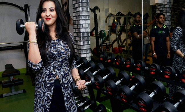 Assamese actor Nisita Goswami inaugurates Aerofitness Gym at Hatigaon in Guwahati