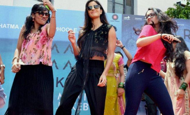 Actress Katrina Kaif during a promotional event for her film \'Baar Baar Dekho\' in Jaipur...