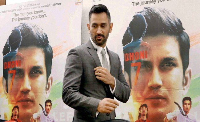 Mahendra Singh Dhoni at a press conference on his biopic movie in New York City...