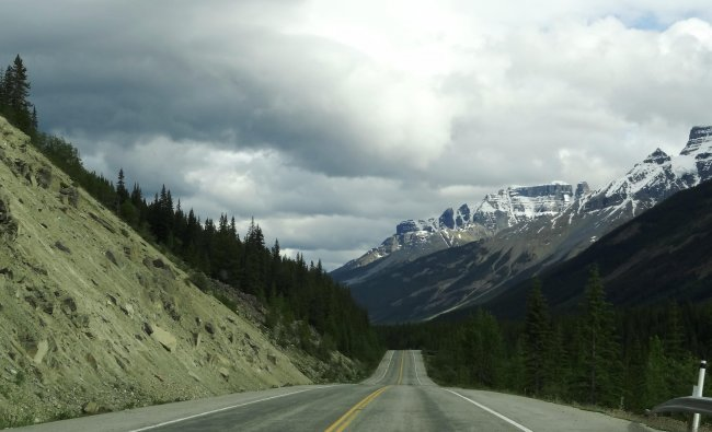 Road through the Rocky mountain in Canada