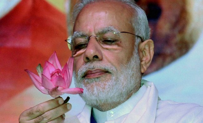 Prime Minister Narendra Modi during BJP\'s National Council Meeting at Kozhikode...