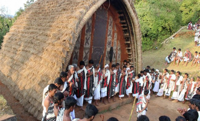Toda tribe celebrating Temple Festival at Tharanadu Mandu near Ooty...