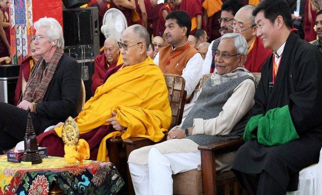 Bihar Chief Minister Nitish Kumar, Tibetan spiritual leader Dalai Lama and Hollywood actor Richard.