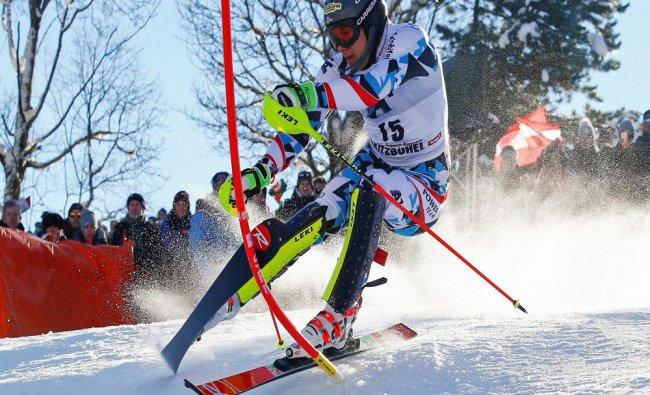 Austria\'s Michael Matt speeds down the course during an alpine ski, men\'s World Cup slalom...