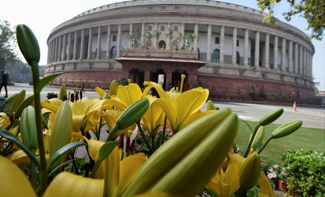 A view of the Parliament.....
