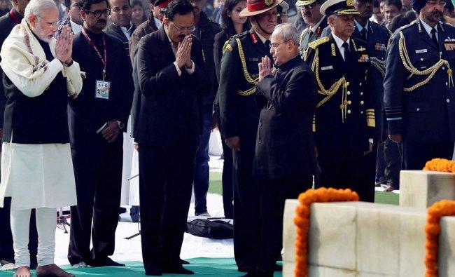 President Pranab Mukherjee, Prime Minister Narendra Modi...