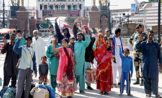 39 Pakistani nationals including 18 fishermen and 21 civilians going to their country after India...