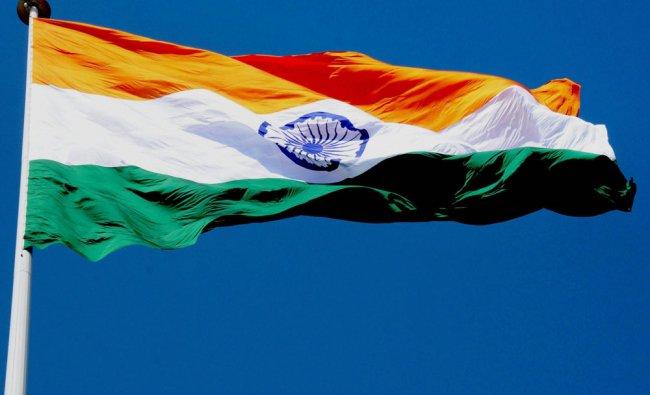 India\'s largest flag (350 feet/110m) hoisted at Attari international border near Amritsar...