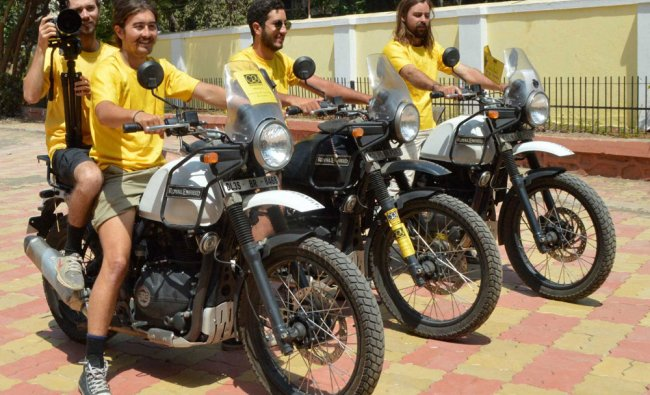 Four Australian bikers, who have embarked on a 7,000-km long journey across India...
