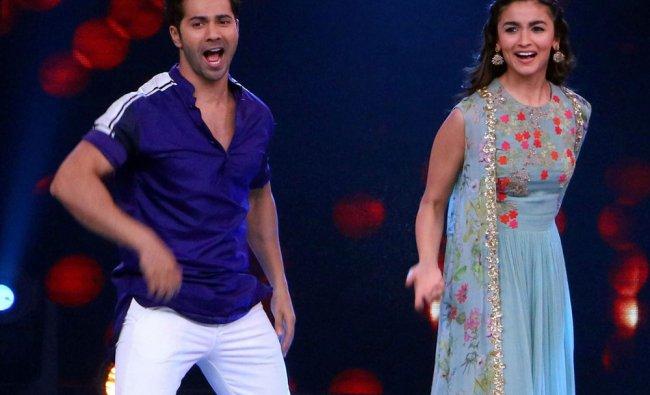 Bollywood actors Alia Bhatt and Varun Dhawan during promotion of their film Badrinath ki Dulhania...