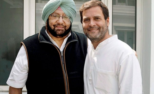 Punjab Congress President Capt Amrinder Singh meeting party Vice-president Rahul Gandhi in New Delhi