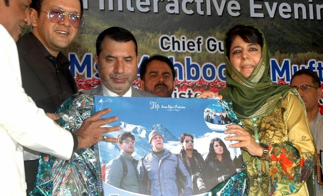 Jammu & Kashmir Chief Minister Mehbooba Mufti Sayeed during trailer launch of film Sargoshiyan ....