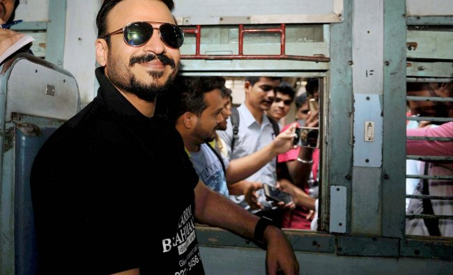 Bollywood Actor Vivek Oberoi travelling to Kelve Road, Palghar for the launch of his affordable...