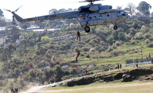 Soldiers of Indian Army and Royal Army of Oman during their joint training exercise, Exercise AL...