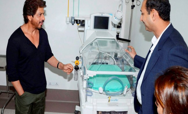 Bollywood Actor Shahrukh Khan during inauguration of the Bone Marrow Transplant Centre and...