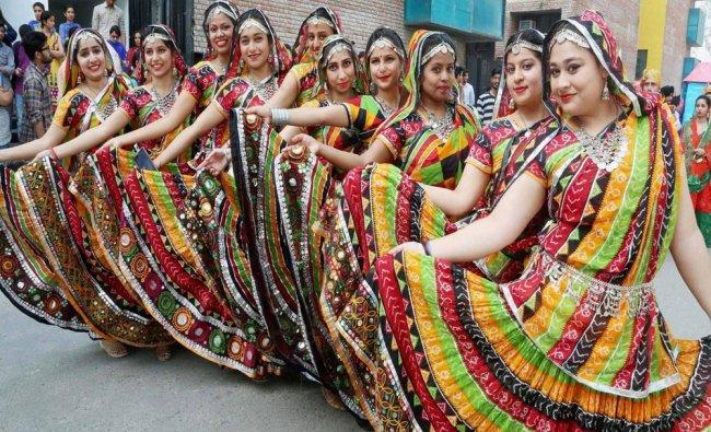 Artists perform during Annual Mega National Festival \'One India\' in Jalandhar...