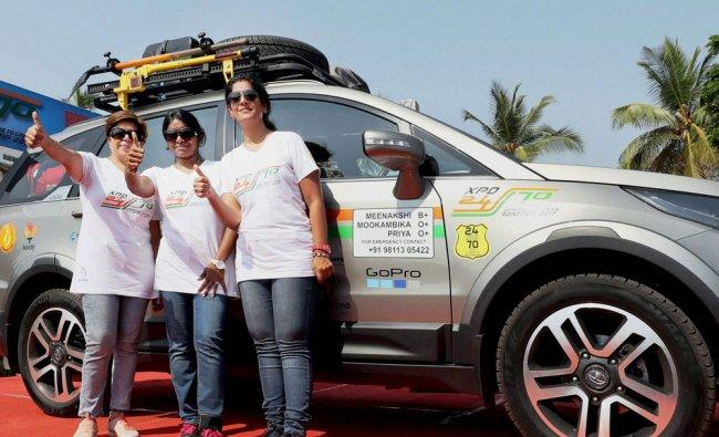 The three woman Rotarians Meenakshi Aravinth, Mookambika Rathinam and Priya Rajpal...