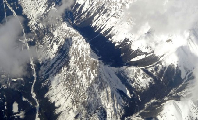 Flying high over Rockies