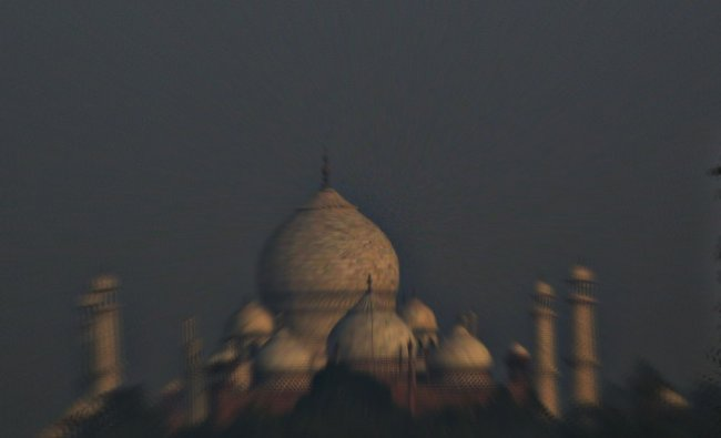 Closer from a distance: Taj Mahal view from Agra. Photo by Satheesh Narayanswamy...