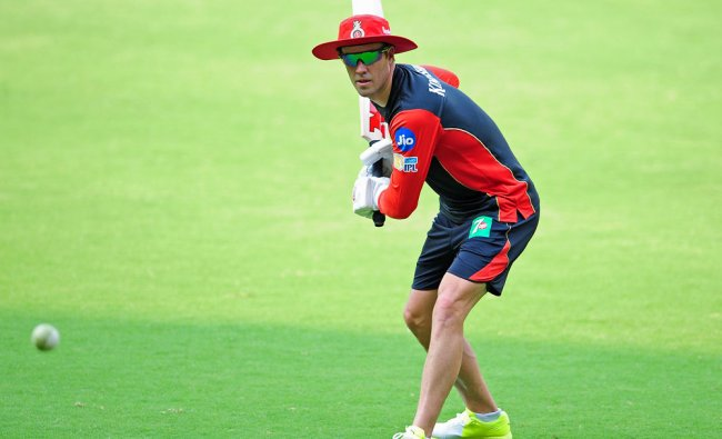 Royal Challengers Bengaluru (RCB) player AB develliers during training session before the IPL ...