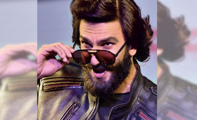 Actor and brand ambassador for Carrera, Ranveer Singh interacts with fans at a promotional event...