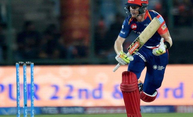 Delhi Daredevils batsman Sam Billings takes run after playing a shot during an IPL match...
