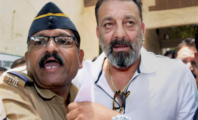 Sanjay Dutt at a magistrate court in Mumbai