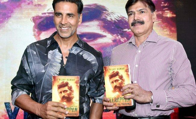 Bollywood actor Akshay Kumar during the launch of former IPS officer K Vijay Kumar\'s book...