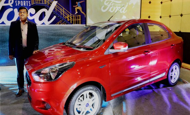 Narasimhan Balaji, General Manager (Sales)South, Ford India launching their new sports...