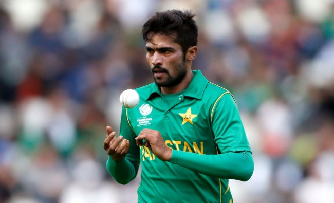 Pakistan\'s Mohammad Amir during Pakistan v South Africa - 2017 ICC Champions Trophy