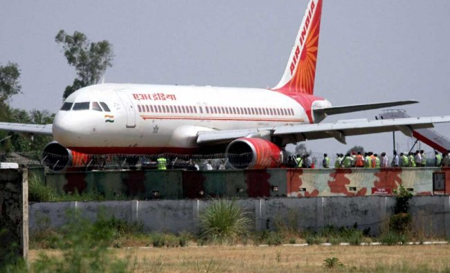 An Air-India plane from Delhi carrying 134 passengers suffered a tyre burst ...
