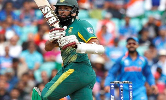 South Africa\'s Hashim Amla plays a shot during the ICC Champions Trophy match...