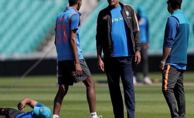 India\'s head coach Anil Kumble...