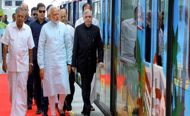 Prime Minister Narendra Modi, Union minister Venkaiah Naidu, Governor P Sathasivam and...