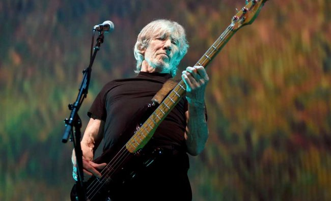 Roger Waters performs during his \'Us + Them\' tour stop at Staples Center on Tuesday...