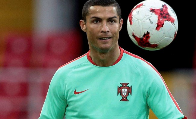 Portugal\'s Cristiano Ronaldo attends a training session at the Spartak Stadium in Moscow, Russia...