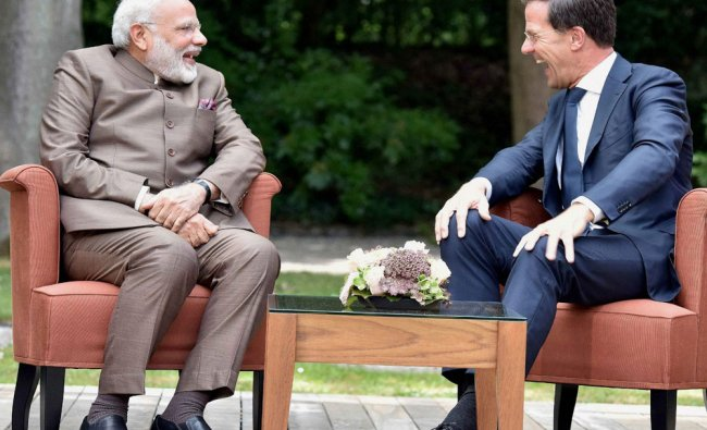 Prime Minister Narendra Modi meeting the Prime Minister of Netherlands...