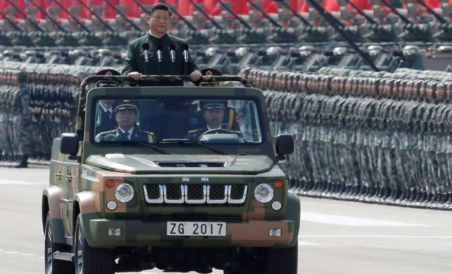 Chinese President Xi Jinping inspects the People\'s Liberation Army of the Hong Kong Garrison...