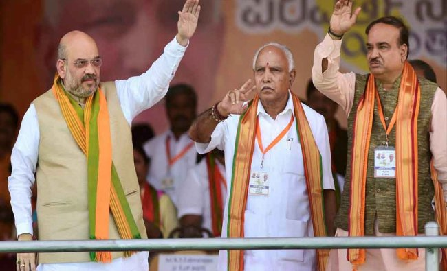 BJP President Amit Shah in Bengaluru...