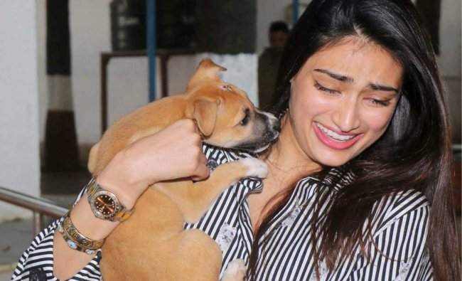 Bollywood actress Athiya Shetty at the Bombay Society for the Prevention of Cruelty to...