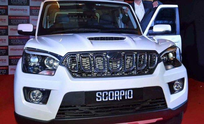 Amit Sagar, Vice president, Sales (Automotive division) Mahindra & Mahindra during launch of...