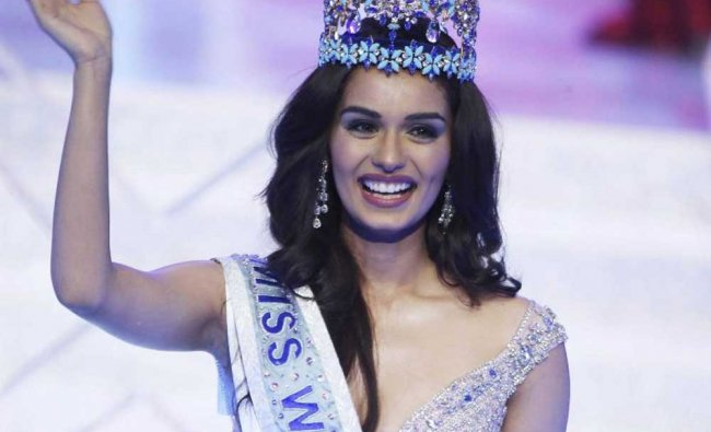 Manushi Chillar is crowned Miss World during the beauty pageant...
