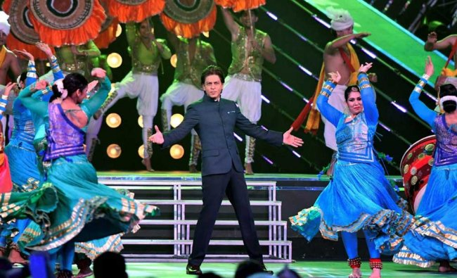 Shah Rukh Khan performs during the inaugural ceremony of 48th edition of the IFFI...