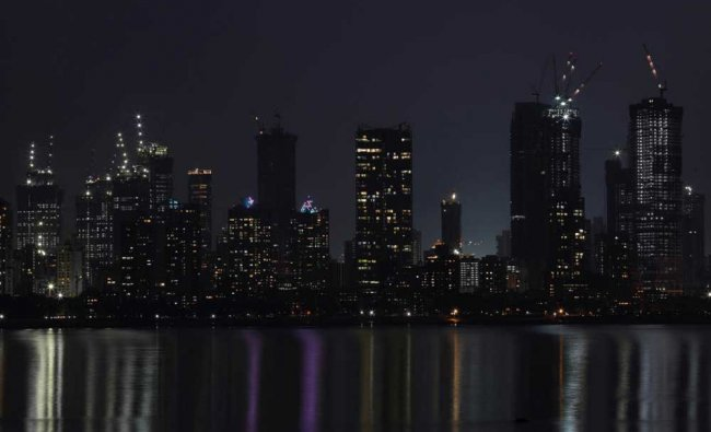 A general view of Mumbai\'s central financial district...