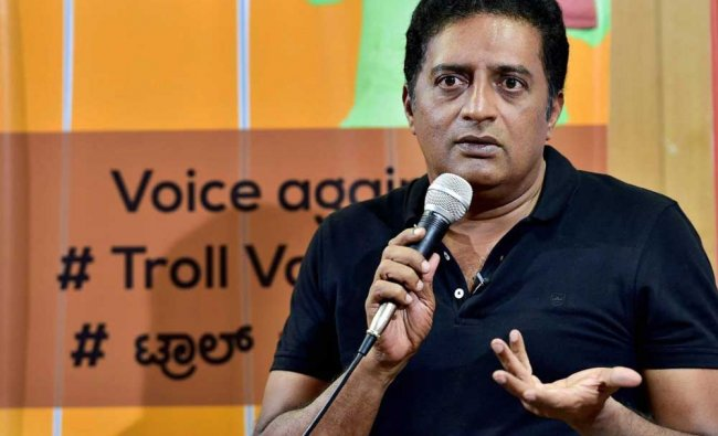 Prakash Raj speaks during a press conference to launch a campaign against the social media troll...