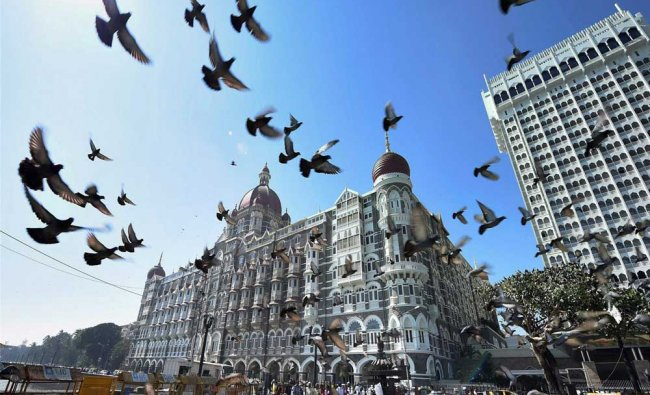 A view of the Taj Mahal Palace hotel which was a target during the 26/11 terror attack...